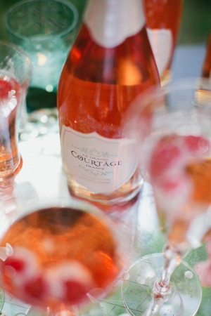 Pink Champagne Wedding Drink Station