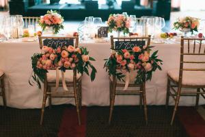 Pink Rose Wedding Chair Decor