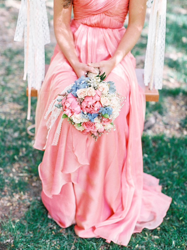 Pink Silk Bridesmaid Gown