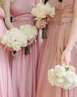 Pink Silk Bridesmaids Dresses