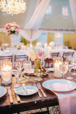 Pink Tent Wedding Reception