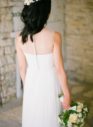 Pleated Skirt Bridal Gown