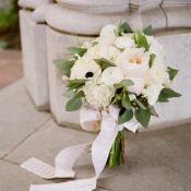 Ribbon Tied White Bouquet