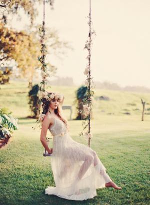 Romantic Floral Tree Swing