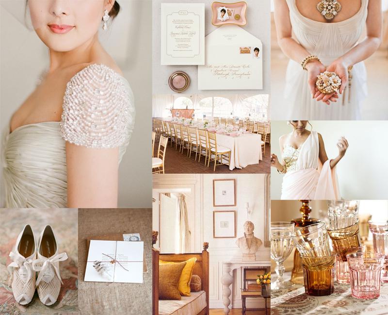 Rose Gold Amber Wedding Colors Elizabeth Anne Designs