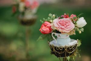 Roses in Vintage Teacup