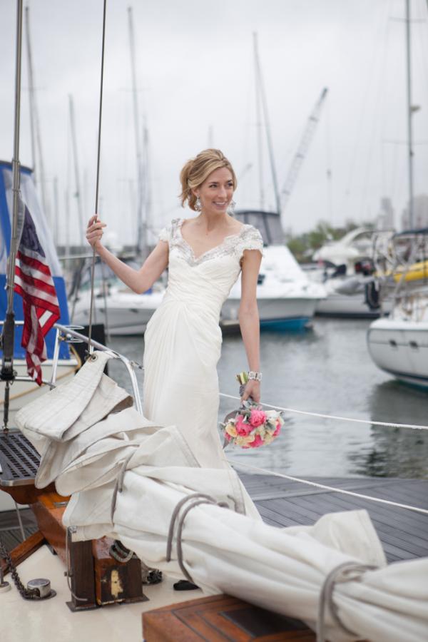 Sailboat Bridal Portrait From Alexis June Weddings