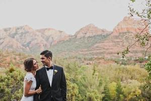 Sedona Mountains Wedding Portrait