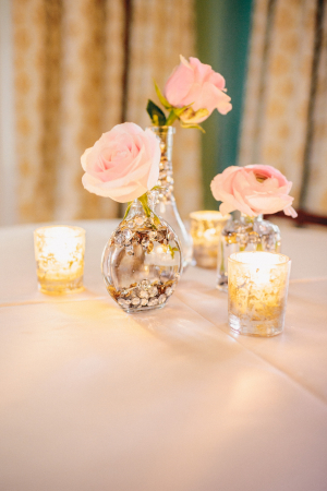 Sequin Vase Reception Decor
