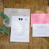 Silhouette Wedding Invitation