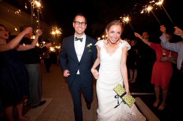 Sparkler Exit From Wedding Reception