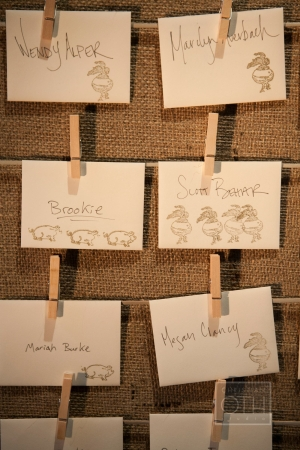 Stamped Reception Place Cards