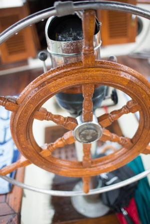 Steering Wheel on Sailboat
