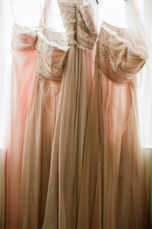 Strapless Blush Bridesmaids Dresses