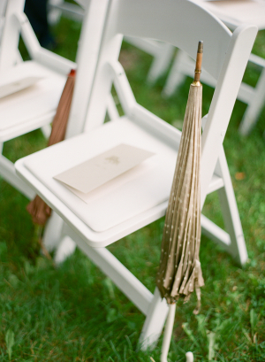 Taupe Parosols in Weddings