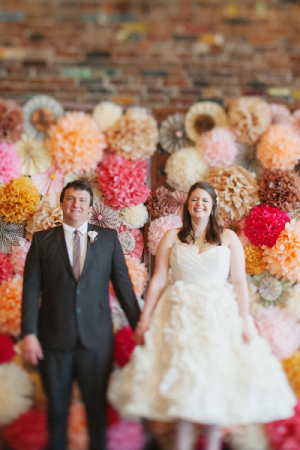 Tissue Paper Pomander Backdrop