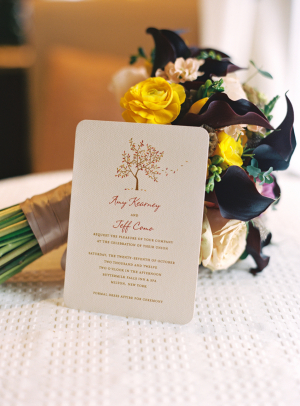 Tree Motif Wedding Invitation