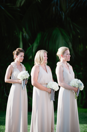 V Neck Taupe Bridesmaids Dresses