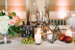 Vintage Chalkboard Reception Table Numbers