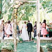 Vintage Door in Garden Wedding
