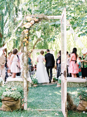 Vintage Door in Garden Wedding