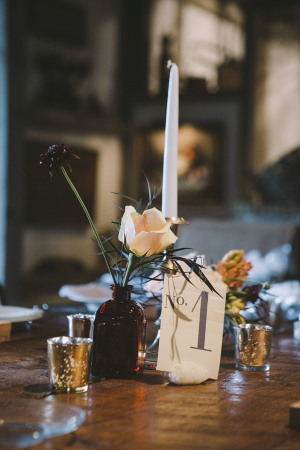 Vintage Style Reception Table Numbers