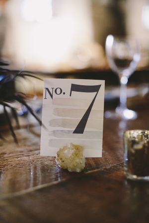 Vintage Style Watercolor Table Numbers
