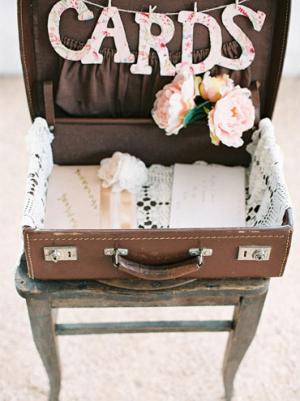 Vintage Suitcase Card Holder