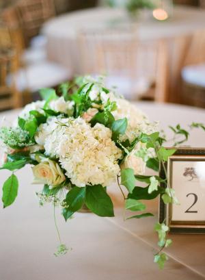 White Hydrangea Centerpiece