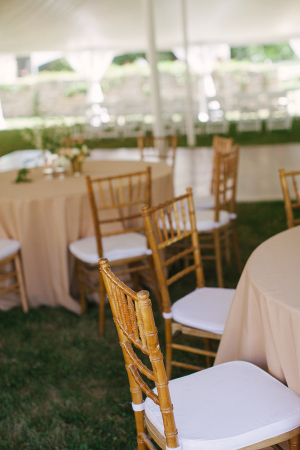 Wooden Chiavari Chairs at Outdoor Reception