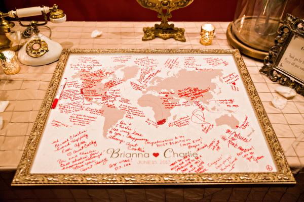 World Map Guest Book