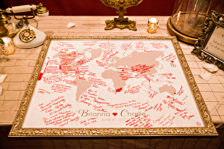 World map guest book elizabeth anne designs the wedding blog gumiabroncs Image collections