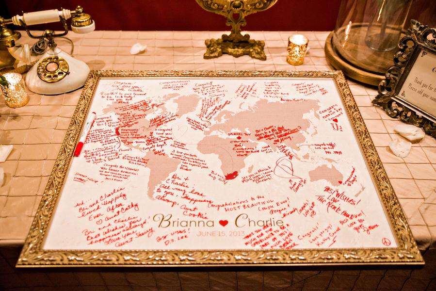 World map guest book elizabeth anne designs the wedding blog world map guest book gumiabroncs Gallery