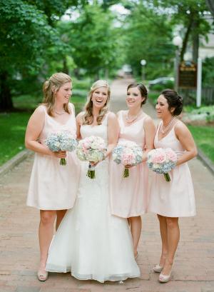 Baby Pink Bridesmaids