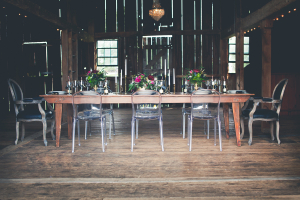 Barn Table with Ghost Chairs