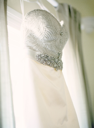 Beaded Bodice on Wedding Gown