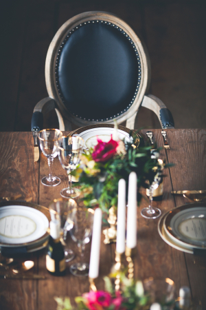 Black Chair at Wedding