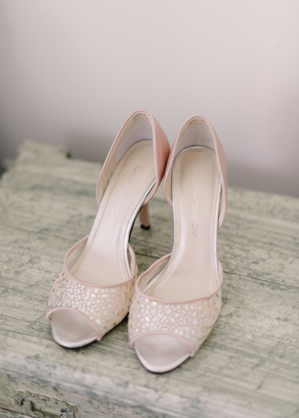 Blush Pink Peep Toe Shoes