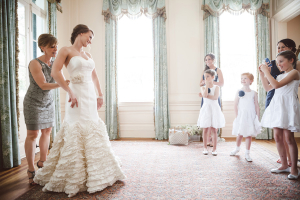 Bridal Gown With Ruffled Skirt