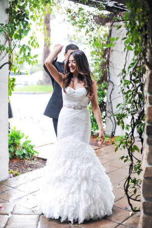 Bridal Gown With Shirred Mermaid Skirt