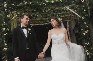 Bride and Groom Beneath Chuppah