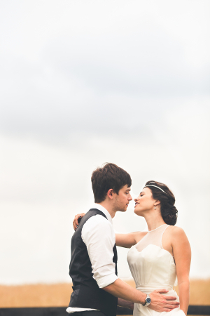 Bride and Groom Outdoor Portrait From One Summer Day