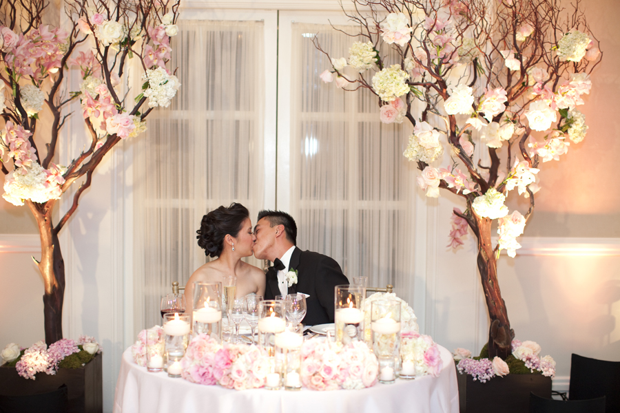 Bride And Groom At Sweetheart Table   Elizabeth Anne Designs: The Wedding  Blog