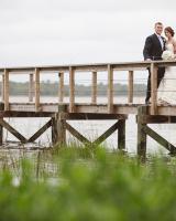 Bride and Groom on Lowcountry Bridge