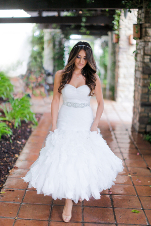 Bride in St Patrick Gown