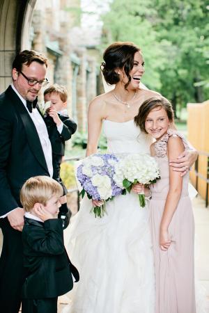 Bride with Junior Bridesmaid