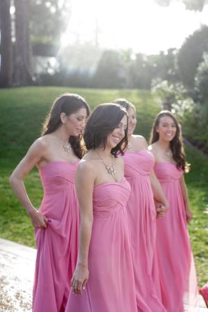 Bubblegum Pink Bridesmaids Dresses