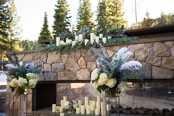 Candlelit Wedding Ceremony Altar