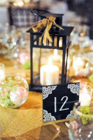 Chalkboard Sign Reception Table Numbers