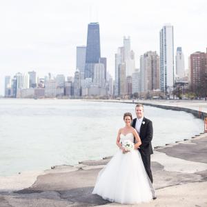 Chicago Skyline Wedding Portrait